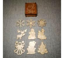 Набор новогодних игрушек  для творчества, скрапбукинга и декупажа